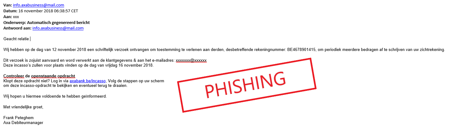 exemple phishing